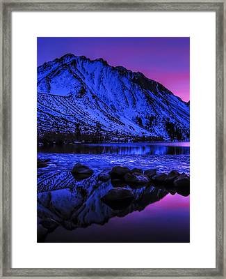 Magical Sunset Over Mount Morrison And Convict Lake Framed Print by Scott McGuire