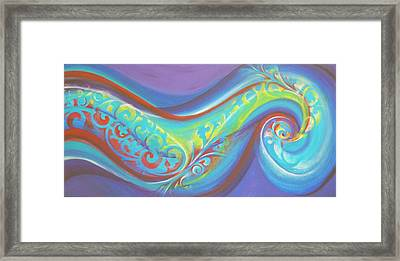 Magical Wave Water Framed Print by Reina Cottier