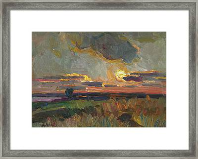 Magical World Of Sunset Framed Print
