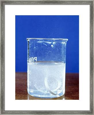 Magnesium Reacting With Acid Framed Print
