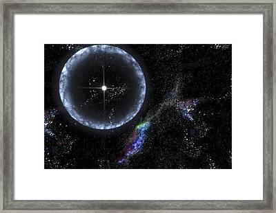 Magnetar Star Sgr 1806-20, Artwork Framed Print