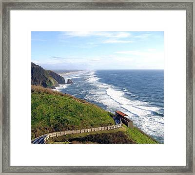 Magnificent Oregon Coast Framed Print by Will Borden