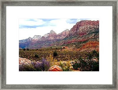 Magnificent Vista Of Zion Framed Print