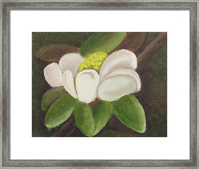 Framed Print featuring the painting Magnificient Magnolia by Margaret Harmon