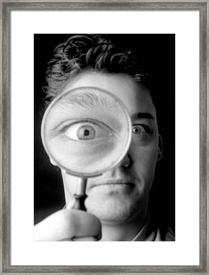 Magnified Eye Framed Print by Victor De Schwanberg