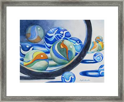 Magnified Marbles Framed Print