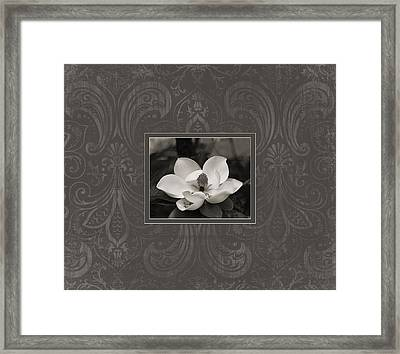 Framed Print featuring the photograph Magnolia Art by Mary Hershberger