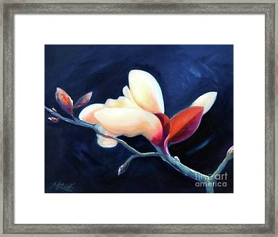 Framed Print featuring the painting Magnolia Blossom by Michael Rock