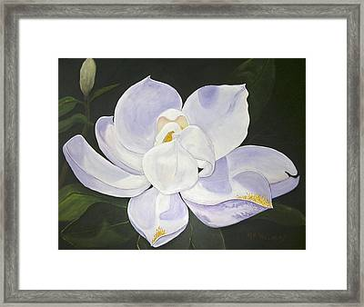 Magnolia Framed Print by Mary Kay Holladay