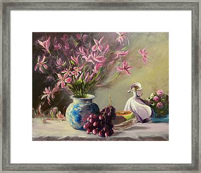 Magnolias Framed Print by Thomas Kearon