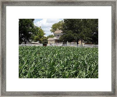 Mahaffie Stagecoach Stop And Farm Home Framed Print