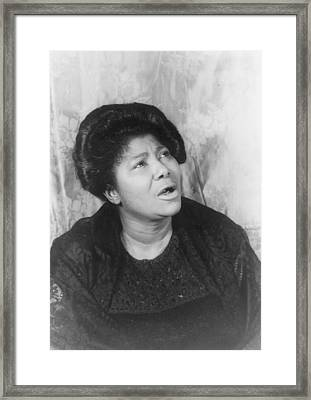 Mahalia Jackson, Portrait By Carl Van Framed Print by Everett