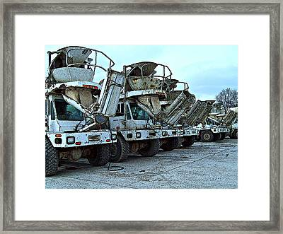 Mahouts Day Off Framed Print by MJ Olsen