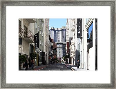 Maiden Lane . San Francisco Framed Print by Wingsdomain Art and Photography