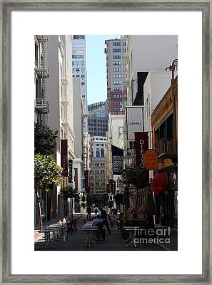 Maiden Lane San Francisco . 7d7349 Framed Print by Wingsdomain Art and Photography