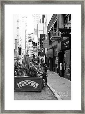 Maiden Lane San Francisco California - 5d19376 - Black And White Framed Print by Wingsdomain Art and Photography