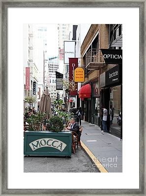 Maiden Lane San Francisco California - 5d19376 Framed Print by Wingsdomain Art and Photography