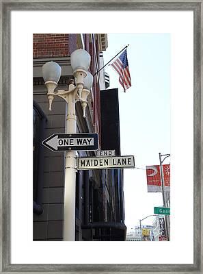 Maiden Lane San Francisco Framed Print