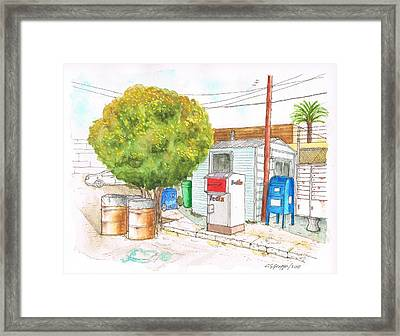 Mail Boxes At Bergamot Station - West Los Angeles - California Framed Print by Carlos G Groppa