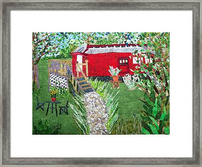 Mail Car Guest House At Lacaboose B And B Framed Print by Charlene White
