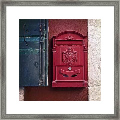 Mailbox Framed Print by Joana Kruse