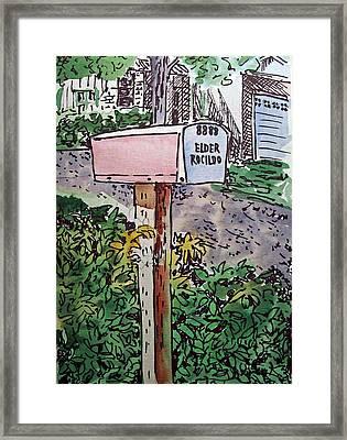 Mailbox Sketchbook Project Down My Street Framed Print by Irina Sztukowski