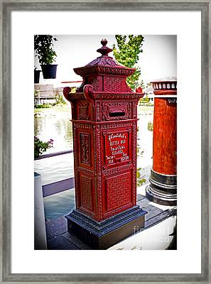 Mailbox Framed Print by Thanh Tran