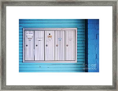Mailboxes Framed Print by HD Connelly