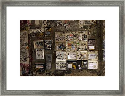 Mailboxes With Graffiti Framed Print by RicardMN Photography