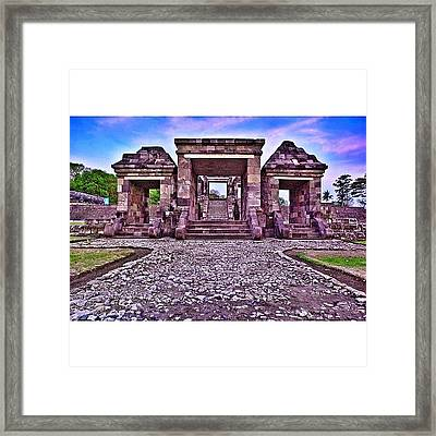 Main Gate The First Of Three Terraces Framed Print