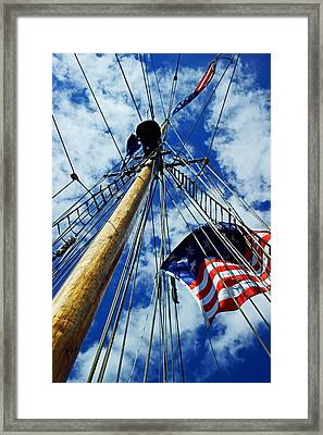 Framed Print featuring the photograph Main Rigging by Randall  Cogle