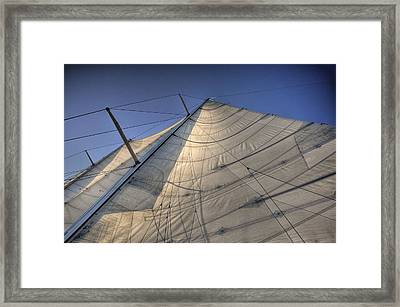 Main Sail Framed Print by Barry R Jones Jr