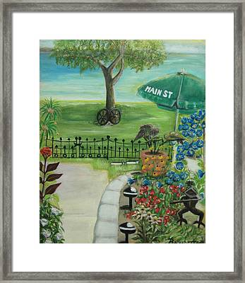 Framed Print featuring the painting Main Street by Bernadette Krupa