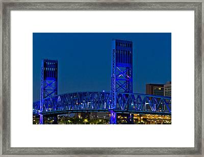 Main Street Bridge Jacksonville Framed Print by Debra and Dave Vanderlaan