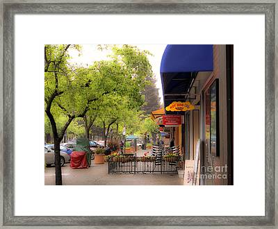 Framed Print featuring the photograph Main Street by Leslie Hunziker