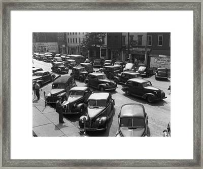 Main Street Parking Framed Print by Archive Photos