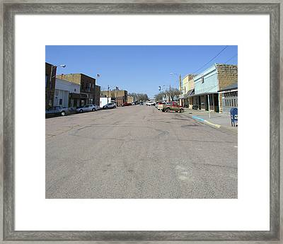 Framed Print featuring the photograph Main Street by Steve Sperry