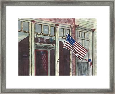 Main Street Usa Framed Print by Rosie Phillips