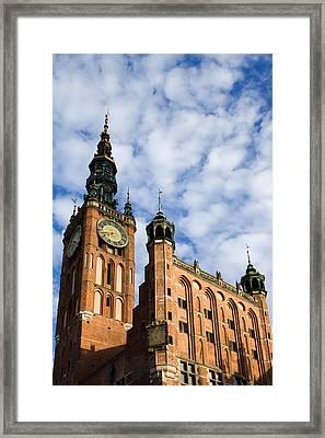 Main Town Hall In Gdansk Framed Print by Artur Bogacki