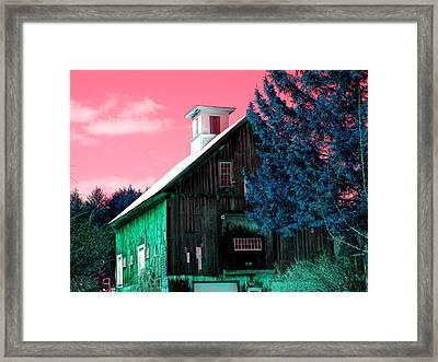 Maine Barn Framed Print by Marie Jamieson