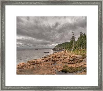 Maine Coastline. Acadia National Park Framed Print