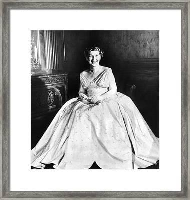 Maine Eisenhower Models The Gown Framed Print by Everett