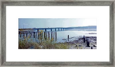 Maine Highway Framed Print