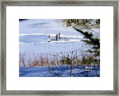 Maine Ice Skaters Framed Print