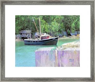 Maine Lobster Boat Framed Print by Richard Stevens