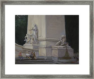 Maine Monument Summer 2012 Framed Print by Walter Lynn Mosley