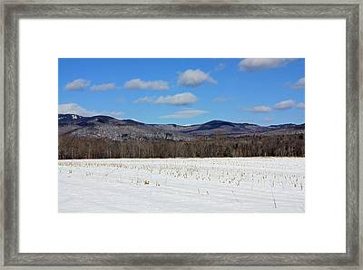 Maine Mountains Framed Print by Becca Brann