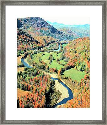 Maine River Framed Print by Richard Stevens