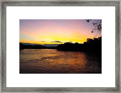 Maine Sunrise Framed Print by Robbie Basquez
