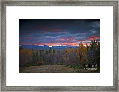 Framed Print featuring the photograph Moosehead Sunset by Alana Ranney